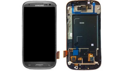 LCD + Touch screen Samsung Galaxy S3 I9300 - Sivi