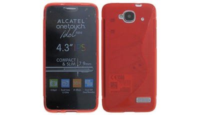 Silikonska maska Alcatel One Touch Idol S 6034 - Crvena