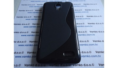 Silikonska maska S line Alcatel One Touch Idol 6030 - Crna