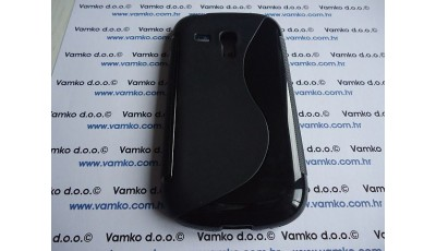 Silikonska maska S line Samsung Galaxy S3 Mini - Crna