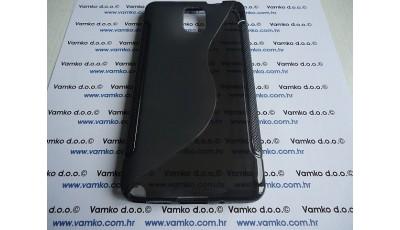 Silikonska maska Samsung Galaxy Note III N9000 - Crna prozirna