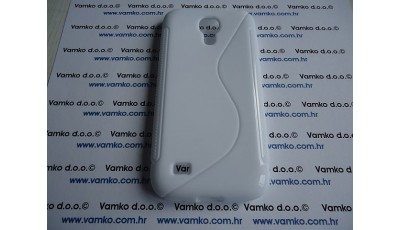 Silikonska maska S line Samsung Galaxy S4 Mini I9190 - Bijela