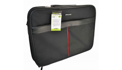 "Torba za laptop do 16"" - Crna - crvena"