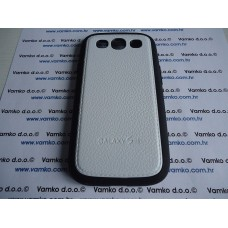 PVC + TPU maska Leather Samsung Galaxy S3 - Bijela