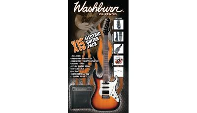 Električna gitara Washburn X15TS Gitarski Pack Tobacco Sunburst